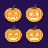 Установите тыквы на Halloween Стоковые Изображения RF