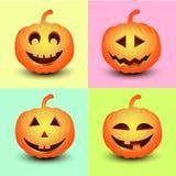 Установите тыквы на Halloween Стоковая Фотография RF
