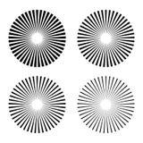 Установите лучи, испустите лучи элемент иллюстрация штока
