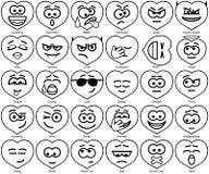 Установите улыбки дня валентинки Стоковые Фотографии RF