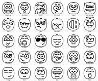 Установите улыбки хеллоуина вектора Стоковые Изображения