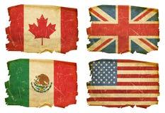 Установите флаги старое #1 Стоковые Фото