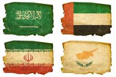 Установите флаги старые # 11 иллюстрация вектора