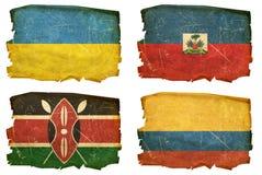 Установите флаги старые # 12 иллюстрация вектора