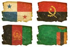 Установите флаги старые # 17 иллюстрация вектора
