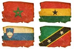 Установите флаги старые # 20 иллюстрация вектора
