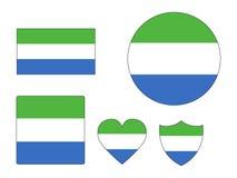 Установите флагов Сьерра-Леоне бесплатная иллюстрация