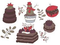 Установите ханж рождества Очень очень вкусный бесплатная иллюстрация