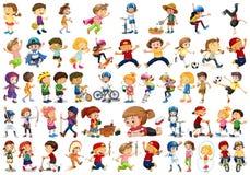 Установите характера детей иллюстрация вектора