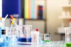 Установите химического развития и фармации трубки в лаборатории, bioc стоковое изображение rf