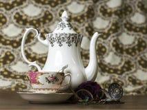 установите чай Стоковое Изображение