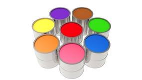 Установите чонсервные банкы краски краска цвет Бесплатная Иллюстрация