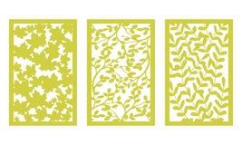 Установите шаблон для резать Картина листьев Отрезок лазера Для прокладчика вектор бесплатная иллюстрация