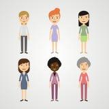 Установите людей - женщин Стоковое Изображение