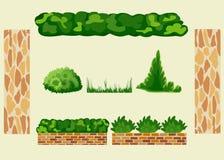 Установите для дизайна ландшафта Иллюстрация штока