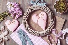 Установите для пастельных цветов needlework Стоковые Фото