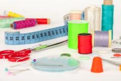 Установите для needlework, швейного набора Стоковая Фотография