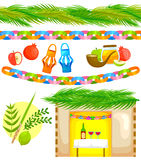 Установите для Sukkot Стоковое Изображение RF