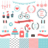 Установите для wedding дизайна Элементы влюбленности для вашего дизайна Стоковое Изображение RF