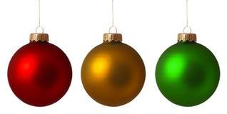 Установите baubles рождества Стоковые Изображения RF