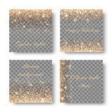 Установите confetti на прозрачной предпосылке Стоковые Фото