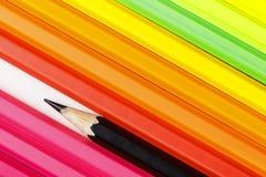 Установите Crayons выровнял вверх по несколько Стоковые Изображения