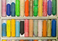 Установите crayons масла для красить и рисовать Стоковая Фотография RF