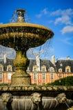 Установите des Вогезы, Париж, Францию - фонтан в конце-вверх Стоковые Фотографии RF