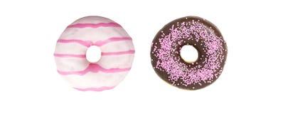 Установите Donuts на белой предпосылке Стоковое Изображение RF