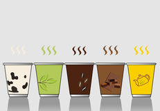 Установите Ep иллюстратора вектора чашки 3 Стоковое фото RF