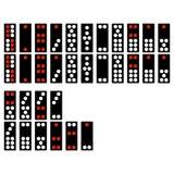 Установите monochrome значков с китайскими домино бесплатная иллюстрация