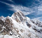 Установите Pumori в зоне Эвереста, Непале Гималаях Стоковые Изображения RF