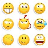 установите smileys Стоковые Изображения RF