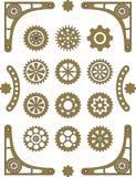 установите steampunk Стоковое Изображение