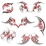 установите tattoo соплеменной Стоковые Изображения RF