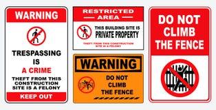 установите trespassing знака запрета бесплатная иллюстрация
