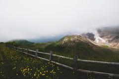 Установите Usu, действующий вулкан на юге озера Toya, Хоккаидо, j Стоковые Фотографии RF