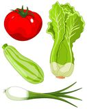 установите vegetables5 Стоковые Изображения