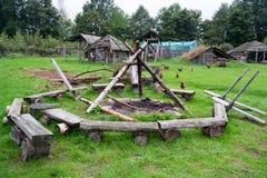 Установка лагерного костера Стоковые Изображения
