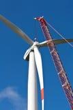 Установка ветротурбины стоковое изображение