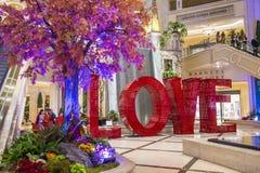 Установка ВЛЮБЛЕННОСТИ на Лас-Вегас венецианский Стоковое Фото