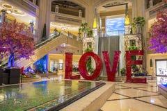 Установка ВЛЮБЛЕННОСТИ на Лас-Вегас венецианский Стоковые Фотографии RF