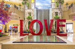 Установка ВЛЮБЛЕННОСТИ на Лас-Вегас венецианский Стоковое Изображение