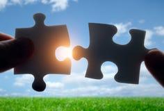 Установка головоломки соединяет совместно стоковое изображение rf