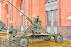 установка зенитной пушки 37mm 1939 год Стоковые Фото