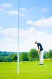 Установка игрока гольфа Стоковое Изображение