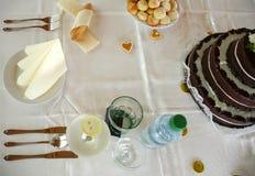 Установка и торт места Стоковое Изображение RF