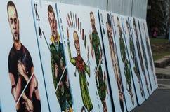 Установка карточного домика Sergey Zakharov Стоковые Изображения RF