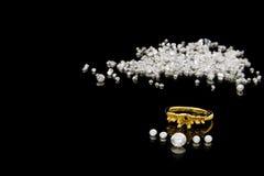 установка кольца диаманта Стоковое Изображение