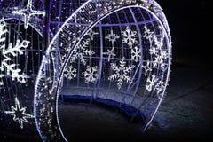 Установка купола света Snowlakes в Karpacz Стоковые Фото